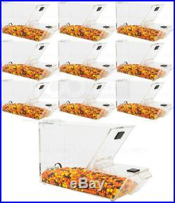 10 PACK Ice Cream Topping Candy Clear Stackable Dispenser Soft Serve Machine