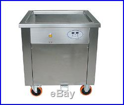110V 1500W Commercial Fried Ice Cream Machine Square Pan Ice Cream Roll Maker