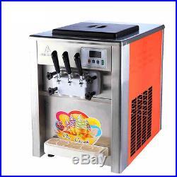 110V 18L/H Commercial 3 Flavor ice cream maker Soft ice cream making machine