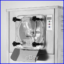 110V 1Flavor Commercial Frozen Hard Ice Cream Machine Maker 20L/H Fast Shipping