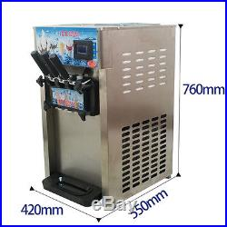 110V/220V 18L/H 3 Flavor Commercial Frozen Soft Ice Cream Cones Making Machine