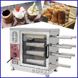 110V/220V Electric Ice Cream Cone Chimney Cakes Kurtos Kalacs Roll Oven Machine