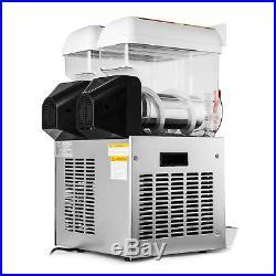 110V Commercial 2 Tank 30L Frozen Drink Slush Slushy Making Machine Great