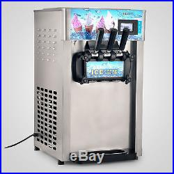110V Commercial 3 Flavor ice cream maker Soft ice cream making machine USA
