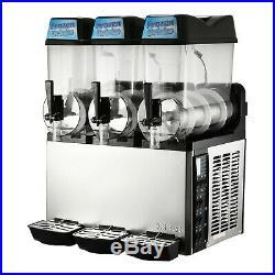 110V Commercial 3 Tank 36L Frozen Drink Slush Slushy Making Machine Great