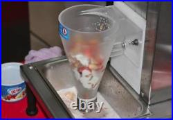 110V Fruit Ice Cream Mixing Machine Yogurt Blender With Free Cone Cup Open Box