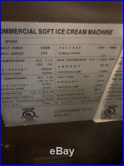 115V Commercial Soft Serve Ice Cream Freezer Machine 3 Flavor
