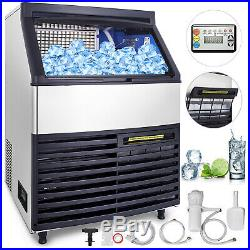 120KG Commercial Ice Maker 265LBS in 24Hrs Stainless Steel Full ice reminding