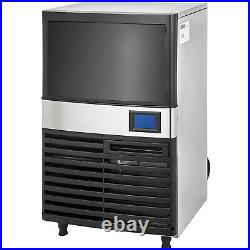 121Lbs Ice Maker Ice Cube Maker Machine 55Kg Commercial Ice Cream Water Filter