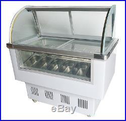 12 PAN Ice Cream/Gelato Showcase Ice Cream Refrigeration&Showcase Machine