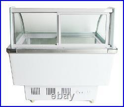 12 PAN Ice Cream Refrigeration & Showcase Machine Ice Cream Display Case US NEW