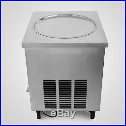 1800W Single Round Pan Fried Ice Cream Roll Machine 110V/60HZ 50CM Pan Size