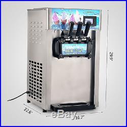 18L/H Soft Ice Cream Machine Ice Cream Maker 3 Flavors