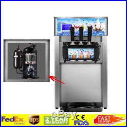 18L/H Soft Ice Cream Making Machine Commercial Quick Maker 3 Flavors 3L2 DHL