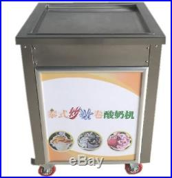 19.7 Square Fry Pan Electric Thai Fried Yogurt Ice Cream Roll Machine Maker
