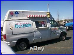 2004 ford E-150 soft serve ice cream and shaved ice truck