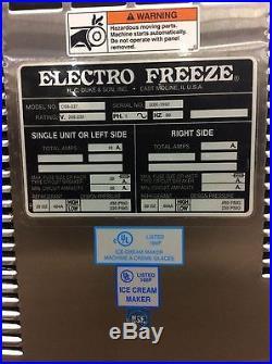 2005 Electro Freeze GRAVITY SOFT SERVE FREEZER Compact Series 2 Flavor Twist