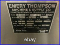 2008 Emery Thompson CB-350 Batch Freezer Gelato Italian Ice Cream Machine