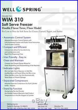 2013 Well Spring WIM 310 Frozen Yogurt/Soft Serve Ice Cream Machine (Read)