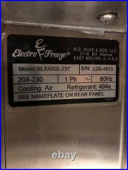 2014 Electro Freeze SLX400E Soft Serve Frozen Yogurt Ice Cream Machine AIR COOL
