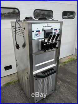 2014 SPACEMAN 6250 Commercial 3 Head Soft Serve Ice Cream/ Yogurt Machine