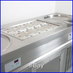 20 Double round pans+10 precooling tanks fried ice cream roll machine