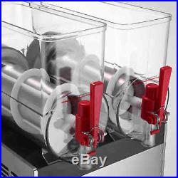 215L Tank Frozen Drink & Slush Slushy Making Machine Juice Smoothie Ice Maker