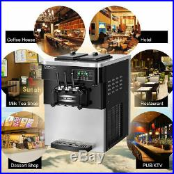 2200W Commercial Ice Cream Automatic Machine 3 Flavors Stainless Steel 20-28L/H