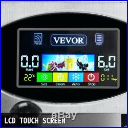 2200W Commercial Soft Ice Cream Machine 3 Flavors 5.3 to 7.4Gallons LCD Panel