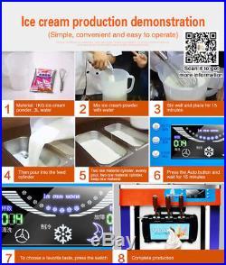 220V/110V CE Commercial Soft Ice Cream Machine 3 Flavor Ice Cream Maker machine