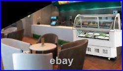 220V- 12 PAN Hard Ice Cream Dipping Cabinet Freezer Display Cabinet US NEW