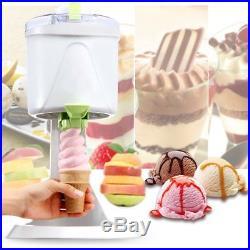 220V 1L Automatic Homemake Soft Ice Cream Cones Maker Machine Kids Party Supply