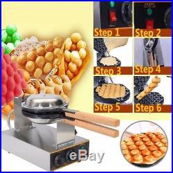 220V 1.3Kw Electric Egg Cake Oven Iron Nonstick Waffle Bread Baker Maker Machine