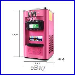 220V 3 Flavor Frozen Commercial Yogurt Soft Ice Cream Machine Maker 13-16L/H