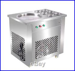 220V Fry Ice Machine Fried Ice Cream Roll Maker Brat-Eiscreme-Joghurt-Maschine