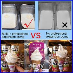 2400W Commercial Soft Ice Cream Machine Flavor Frozen Ice Cream Maker 220V