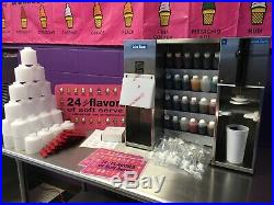 24 Flavors of Soft Serve plus Flavors, Cups &Caps (Astro Blender/ Wadden System)
