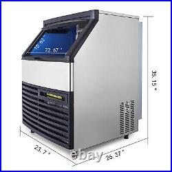 265Lbs Ice Maker Ice Cube Making Machine 120Kg 24H Commercial Auto Microcomputer