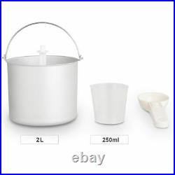 2.1 Quart Ice Cream Maker Frozen Machine Stainless Steel with LCD Timer Control
