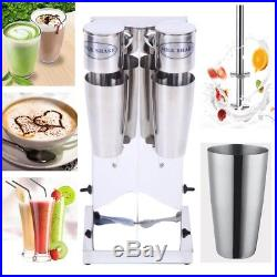 2 Cups 110V Electric Milk Shake Drink Ice Cream Mixer Machine Stainless Steel US
