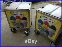 2 Italian Ice Cart Nsf