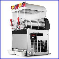 2 Tank Slush Slushy Making Machine 30l Frozen Drink Magnetic Transmission Hq