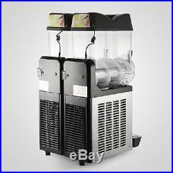 2 Tanks 24L Commercial Frozen Drink Slush Slushy Machine Ice Business Margarita