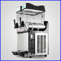 2 Tanks 24L Commercial Frozen Drink Slush Slushy Machine Margarita 2-Cylinder