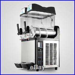 2 Tanks 24L Commercial Frozen Drink Slush Slushy Machine Margarita Admixture