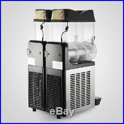 2 Tanks 24L Commercial Frozen Drink Slush Slushy Machine Slurpee Margarita New