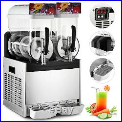 2 x 15L Slushy Machine Slush Making Machine Frozen Drink Smoothie Maker 700W