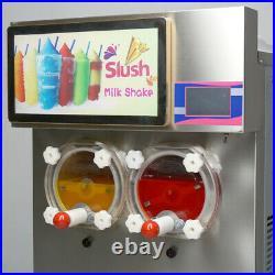 2x14L Margarita Frozen Beverage ice slush machine, Cocktail Milkshake maker