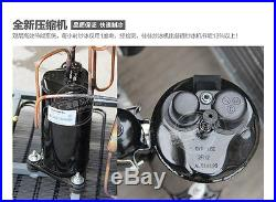 304 Stainless Steel Single Flat Pan Fried Ice Cream Machine Commercial 220V