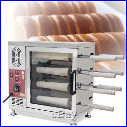 3KW Electric Ice Cream Cone Chimney Cakes Kurtos Kalacs Roll Grill Oven Machine